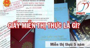 giấy miễn thị thực là gì