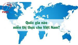 danh sách các nước miễn visa cho việt nam