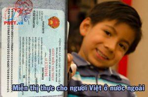 thủ tục xin cấp giấy miễn thị thực cho người Việt Nam định cư ở nước ngoài