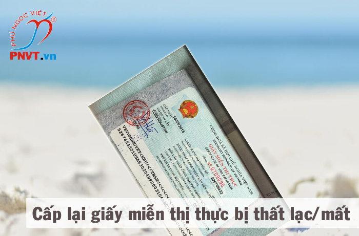 thủ tục xin cấp lại giấy miễn thị thực 5 năm bị mất, thất lạc