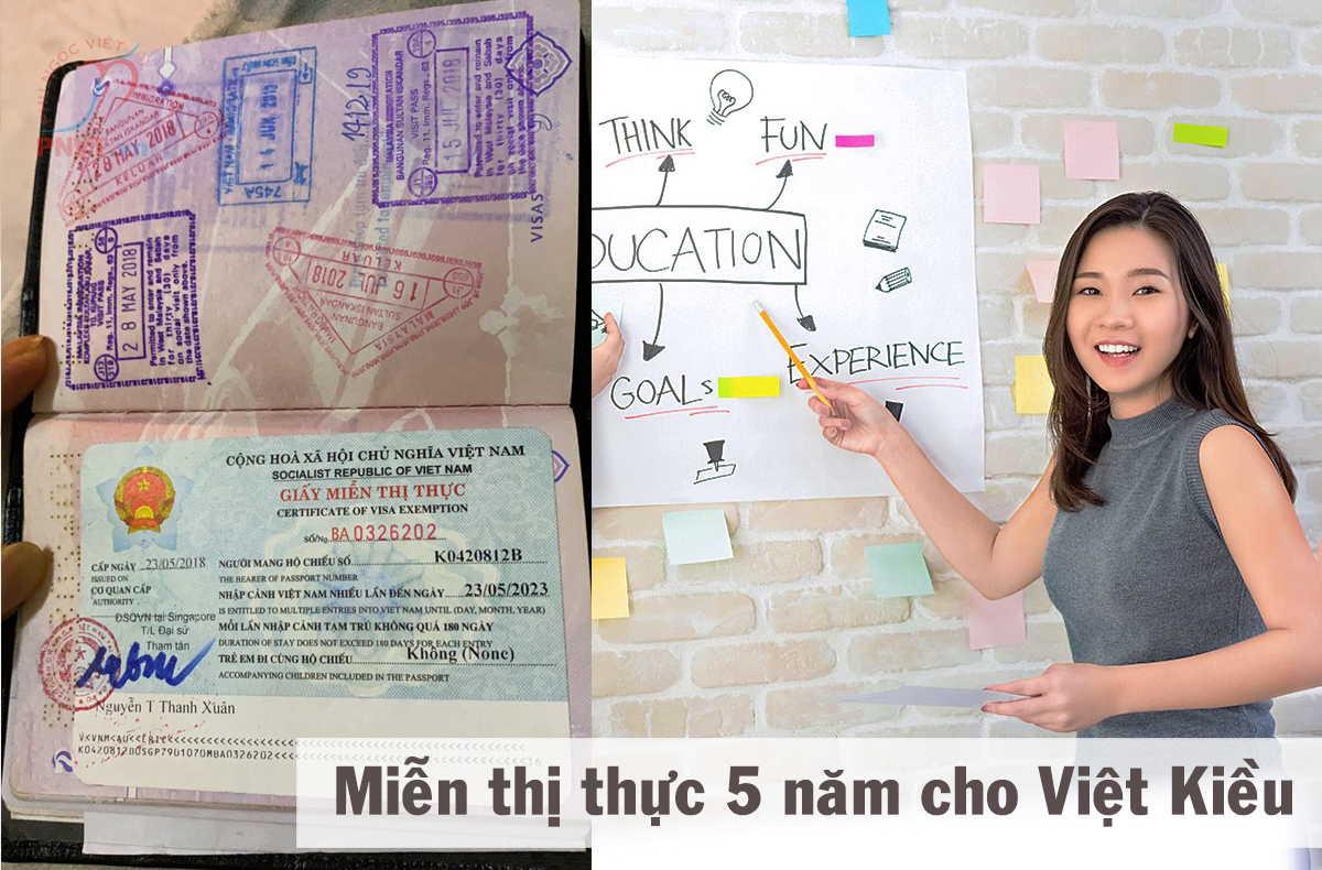 thủ tục xin giấy miễn thị thực 5 năm cho Việt Kiều